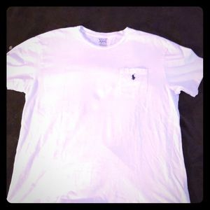 EUC White Polo Ralph Lauren Tee with Front Pocket